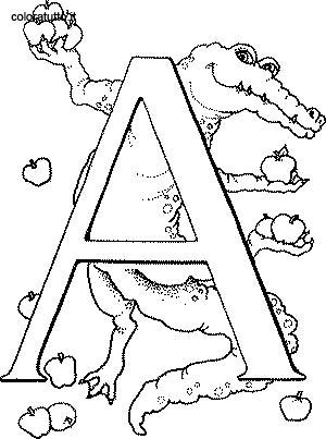 Coloriage Alphabet Animaux 2 1 Lescoloriages Net