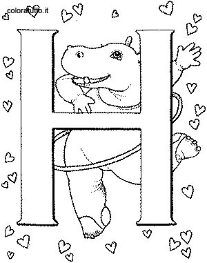 Coloriage alphabet animaux 2 8 - Coloriage alphabet animaux ...