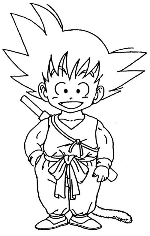 Coloriage dragon ball z 6 - Dessin de dragon ball ...