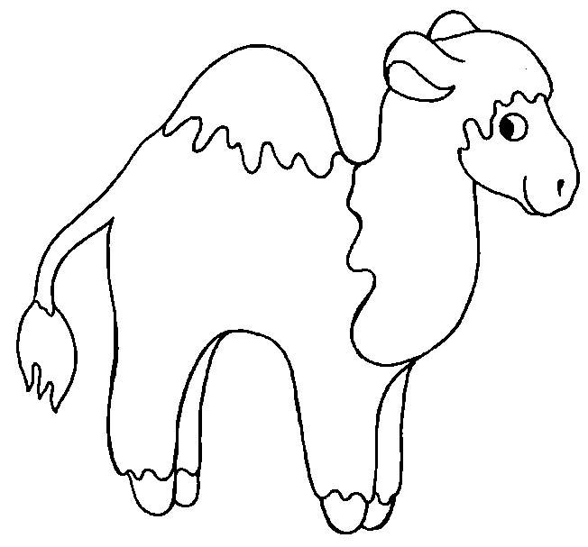 Coloriage dromadaires 7 - Dessin de chameau ...