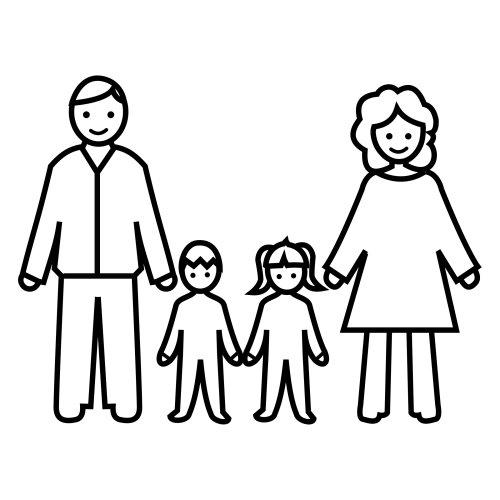 Coloriage famille 33 - Coloriage de la famille ...