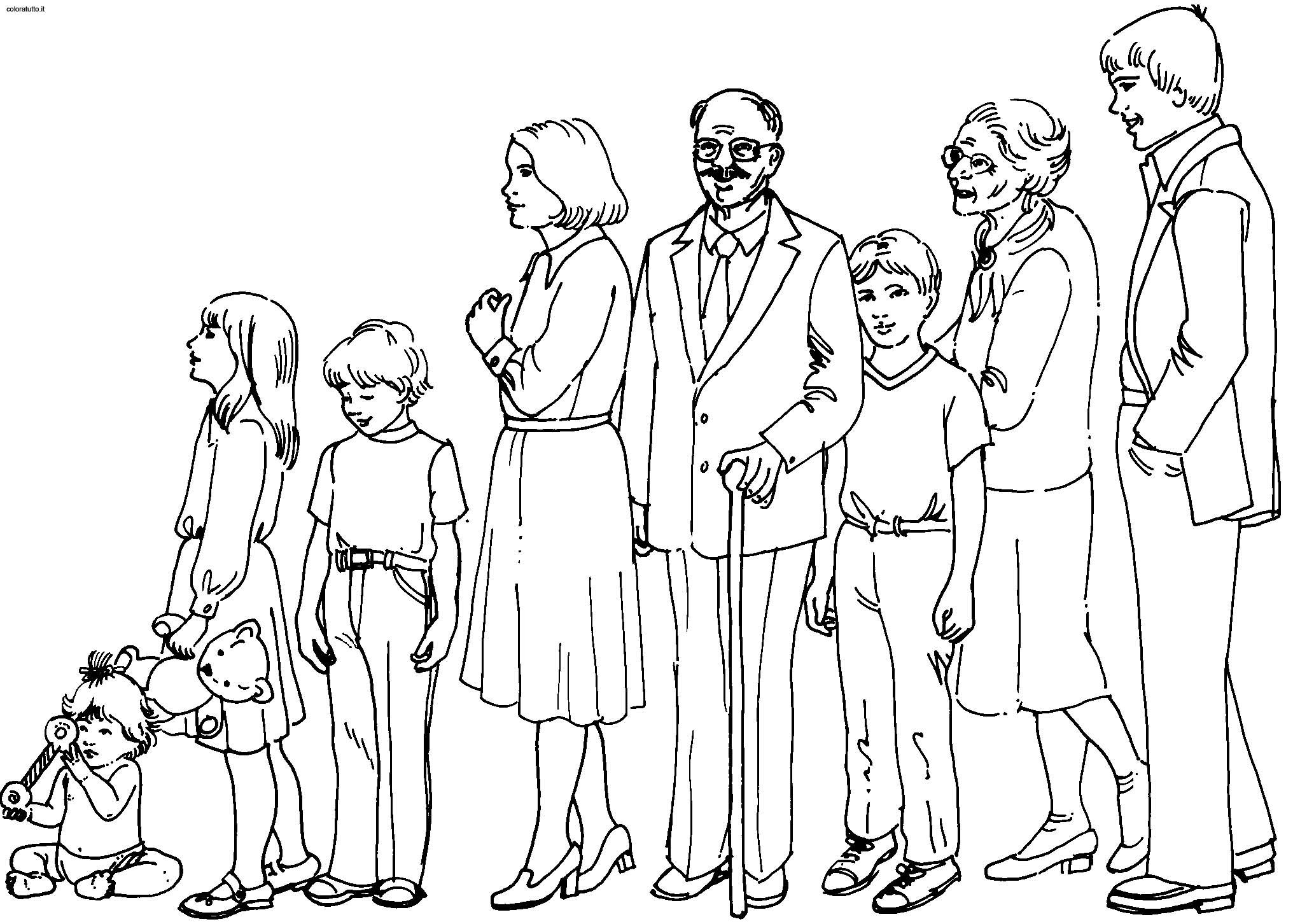 Coloriage Famille 32   LesColoriages.net