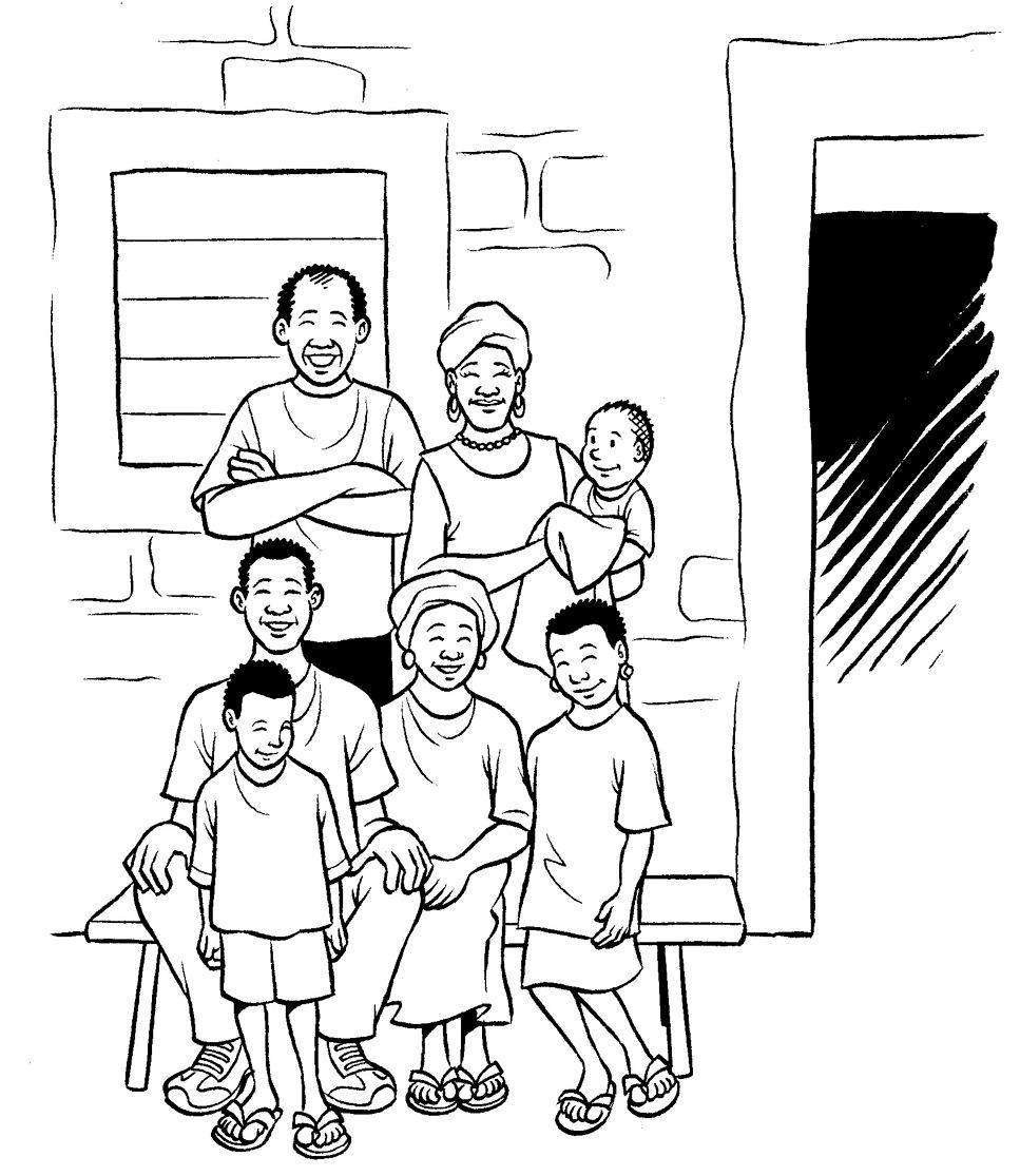 Coloriage famille 59 - Coloriage de la famille ...