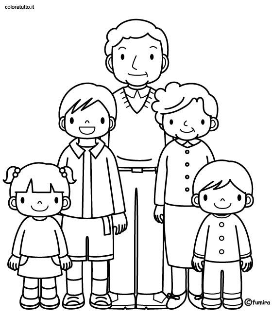 Coloriage famille 70 - Coloriage de la famille ...