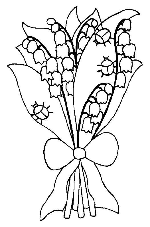 Coloriage fete du muguet 6 - Muguet dessin ...