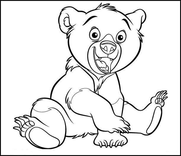 Coloriage frere ours 1 - Ours a dessiner ...