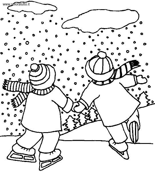 Coloriage hiver 54 - Dessin sur l hiver ...