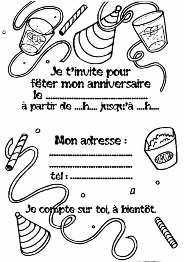 Carte d'invitation anniversaire disney gratuite a imprimer
