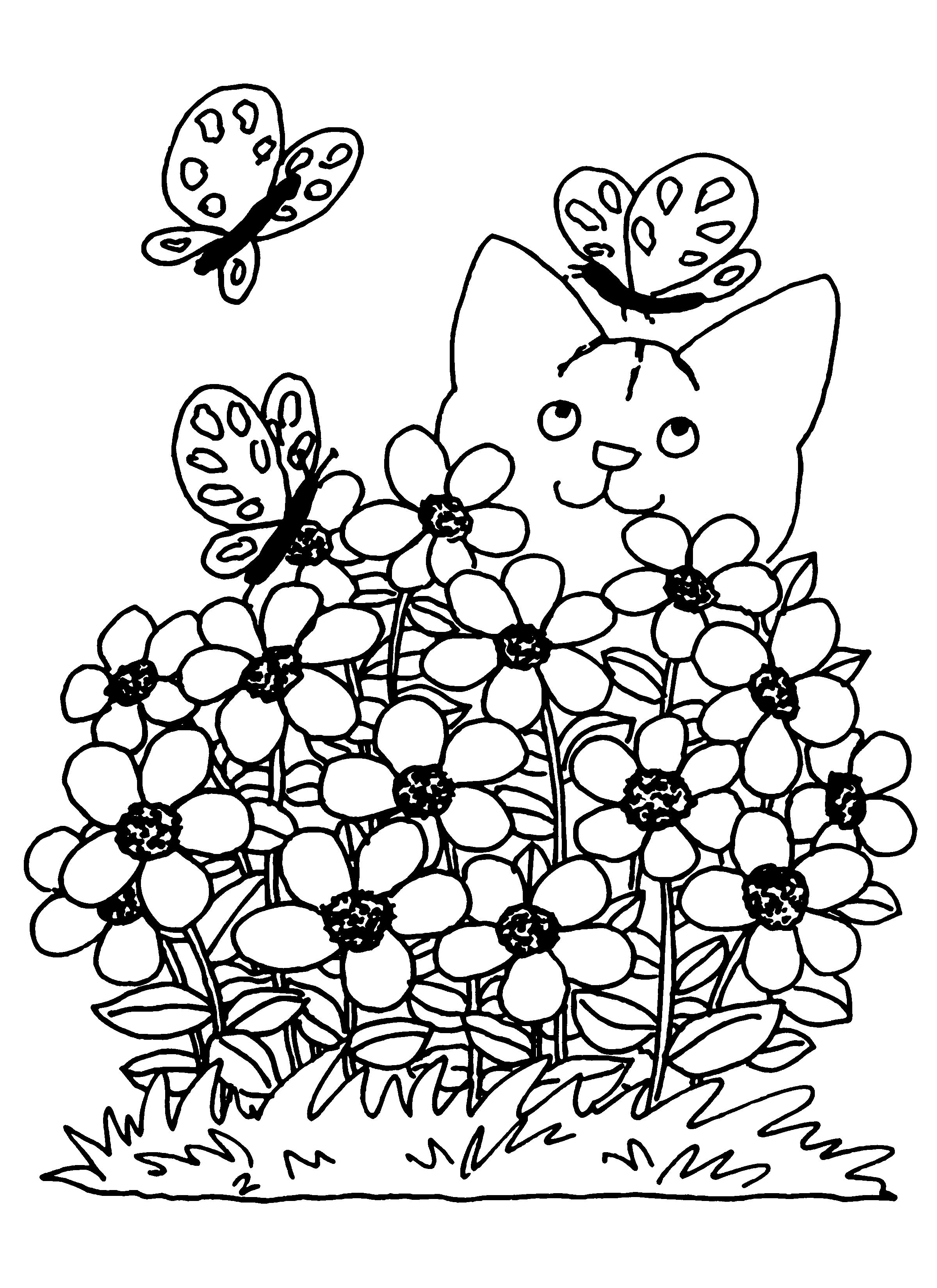 Coloriage Printemps Ce2.Coloriage Printemps 128 Lescoloriages Net