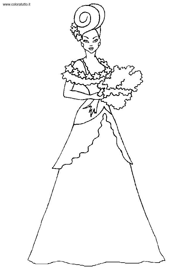 Coloriage robe de princesse 16 - Coloriage robe de princesse ...