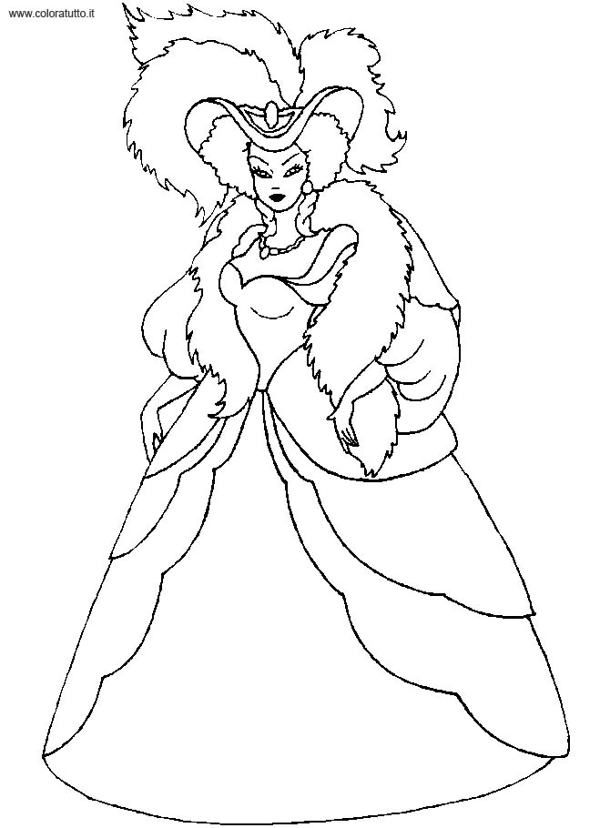 Coloriage robe de princesse 17 - Dessin de robe de princesse ...