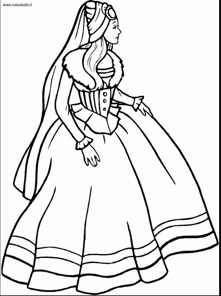 Coloriage robe de princesse 18 - Dessin de robe de princesse ...