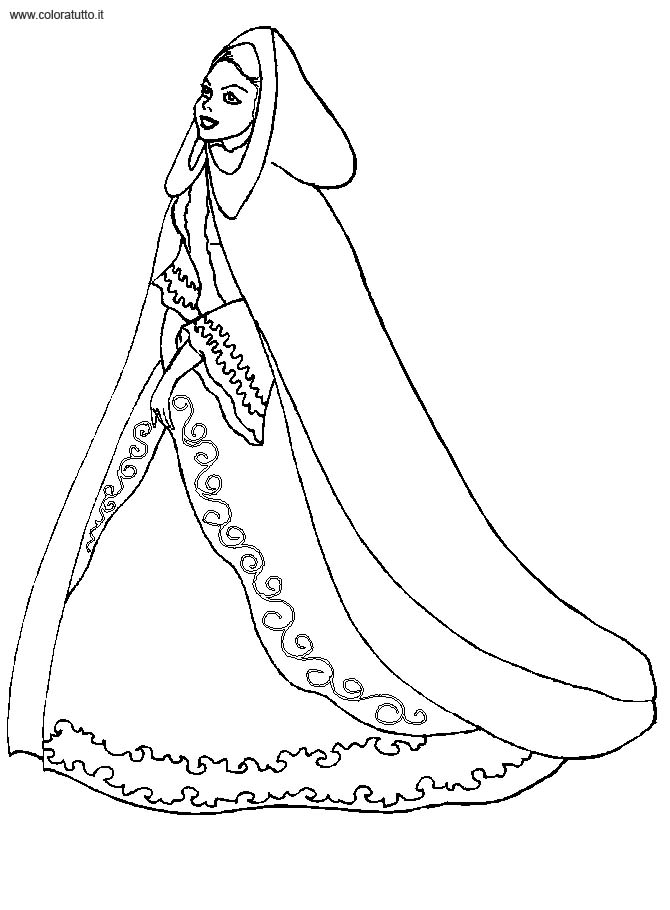 Coloriage robe de princesse 5 - Dessin de robe de princesse ...