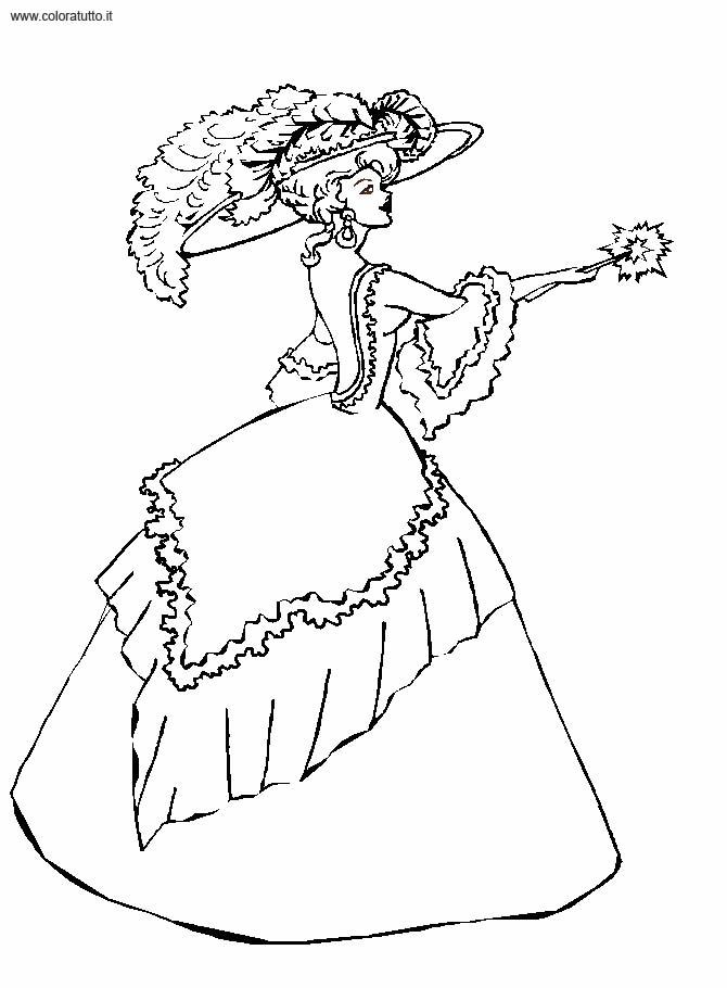 Coloriage robe de princesse 9 - Dessin de robe de princesse ...