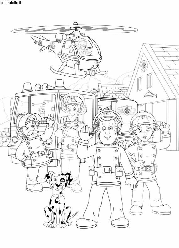 Coloriage Sam Pompier 1 Lescoloriages Net