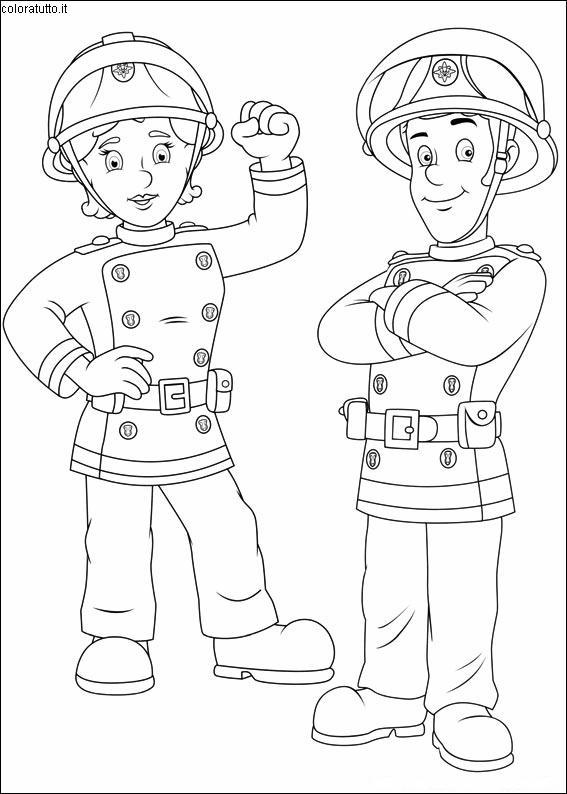 Coloriage Sam Pompier 3 Lescoloriages Net