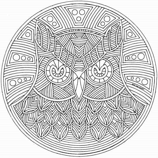 Häufig Coloriage Special Mandala 127 - LesColoriages.net GC33
