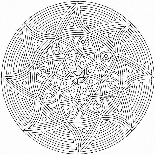 Coloriage Special Mandala 16 Lescoloriages Net
